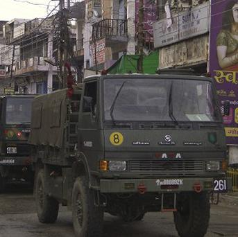 Hundreds of troops have been deployed to quell deadly riots and clashes between Hindus and Muslims in India (AP)