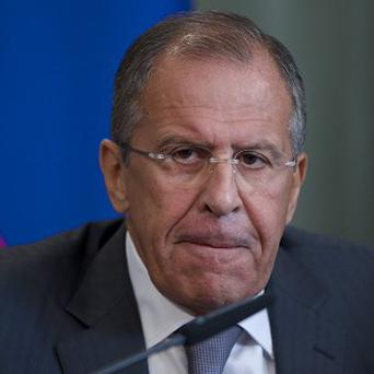 Russian Foreign Minister Sergey Lavrov has backed a US call for Syria to surrender its chemical weapons (AP)
