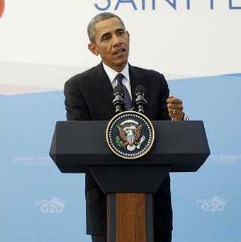 Barack Obama said he would prefer to have a diplomatic solution to the Syria crisis (AP)