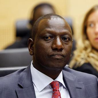 William Ruto has gone on trial at the International Criminal Court in the Netherlands (AP)