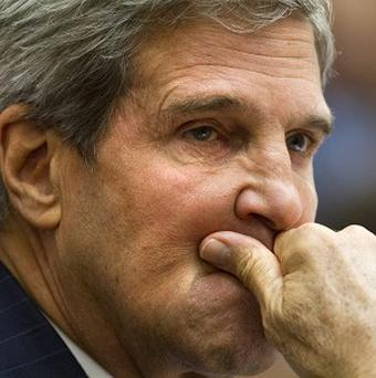 US secretary of state John Kerry and Russian foreign minister Sergey Lavrov are headed to Geneva (AP/Jacquelyn Martin)