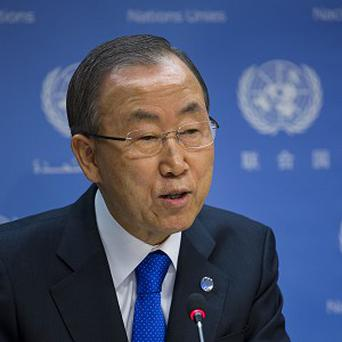Ban Ki-moon said that President Bashar Assad's regime 'has committed many crimes against humanity'