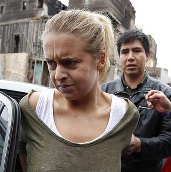 Melissa Reid is in the notorious Virgen de Fatima prison in the Peruvian capital, Lima (AP Photo/Martin Mejia)