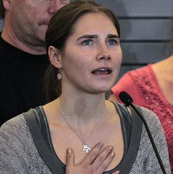Amanda Knox says she will not return to Italy to face retrial over the murder of British student Meredith Kercher (AP)