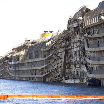 A salvage operation has made more of the Costa Concordia accessible (AP)