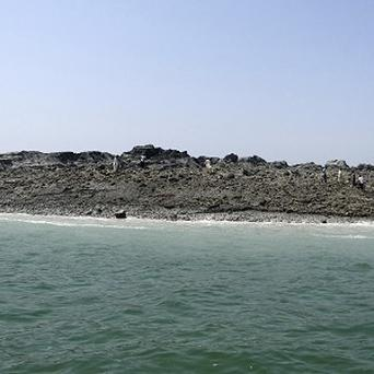 The Pakistan quake caused a new island to form (AP)