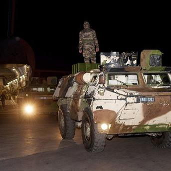 French armoured vehicles being unloaded at Bamako airport, Mali, earlier this year as Paris sent troops to drive out Islamist militias.