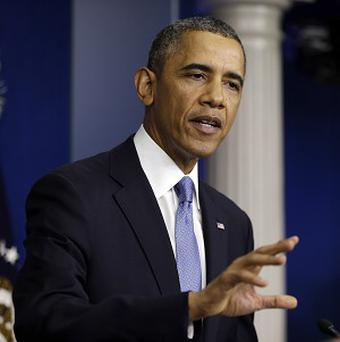 US President Barack Obama speaks about the budget in the Brady Press Briefing Room at the White House (AP)