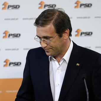 Prime minister Pedro Passos Coelho acknowledges his party's defeat in Portugal's local elections.