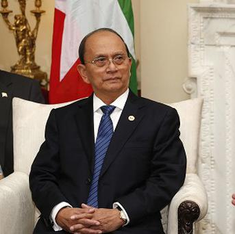 President of Burma Thein Sein has begun his first visit to Rakhine state since sectarian violence broke out there