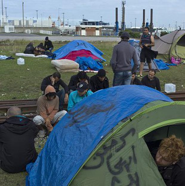 Migrants camping in Calais (AP)