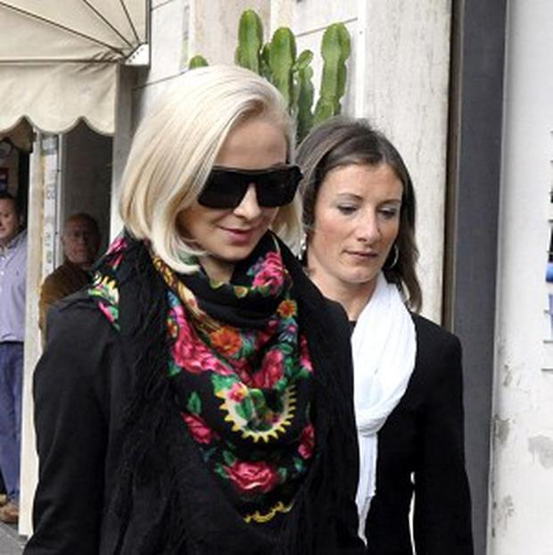 Ship's dancer Domnica Cemortan has admitted having an affair with captain Francesco Schettino who is charged causing the Costa Concordia's fatal accident (AP)