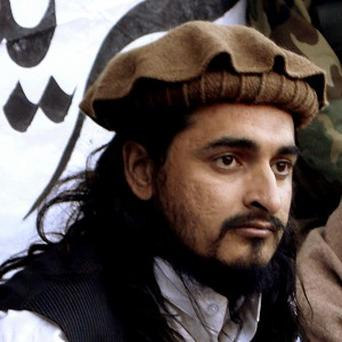 A 2008 file photo of Hakimullah Mehsud, the leader of Pakistani Taliban, who was killed in a US drone strike