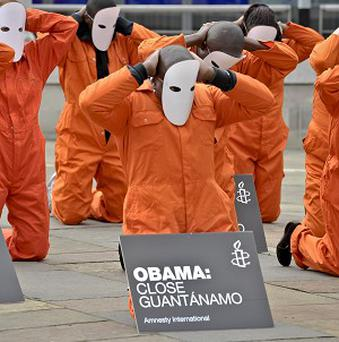 Protesters from many groups have called for Barack Obama to close Guantanamo Bay for many years