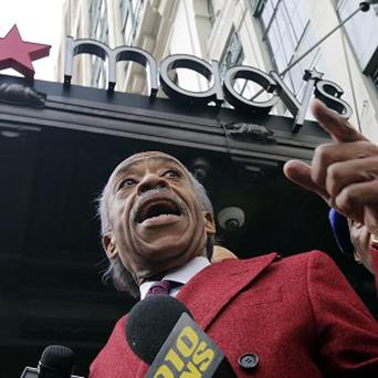 The Rev Al Sharpton outside Macy's flagship store in New York (AP)