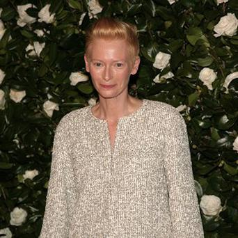 Actress Tilda Swinton was honoured at a star-studded event at the Museum of Modern Art Film Benefit in New York.