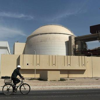 The reactor building of the Bushehr nuclear power plant, just outside the southern Iranian city