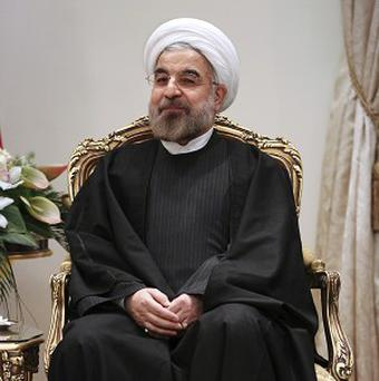 Iran's president Hassan Rouhani has set out the country's 'red line' on nuclear enrichment (AP Photo/Ebrahim Noroozi)