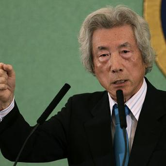 Former Japanese Prime Minister Junichiro Koizumi speaks during a press conference at the Japan National Press Club in Tokyo (AP)