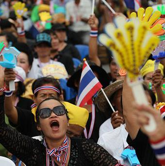 Anti-government protesters demonstrate in Bangkok, Thailand (AP)