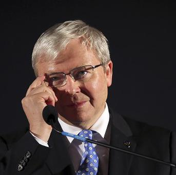 Former Australian prime minister Kevin Rudd is quitting politics (AP)