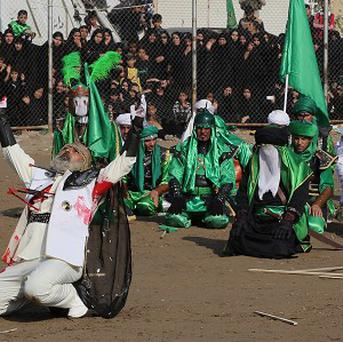 Iraqi Shiite worshippers have been targeted by suicide bombers during the festival of Ashoura. (AP)