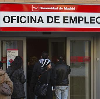 Around 4.8 million people are out of work in Spain