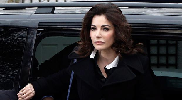TV chef Nigella Lawson arrives at Isleworth Crown Court earlier this month