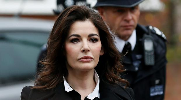 TV chef Nigella Lawson arrives at Isleworth Crown Court in west London today