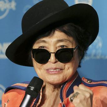 Yoko Ono has told of her wartime hardship during a campaign to fight childhood hunger around the world. (AP/Koji Sasahara)