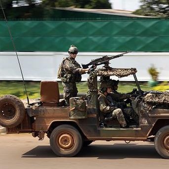 French forces on patrol in Bangui, Central African Republic (AP)