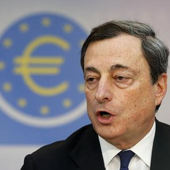 Mario Draghi, president of the European Central Bank, revealed the ECB has cut its inflation forecast for next year (AP)