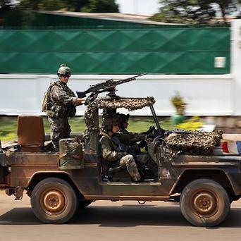 French forces patrol in Bangui, Central African Republic (AP)