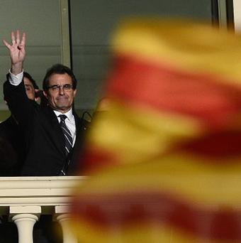 The leader of the center-right Catalonian Nationalist Coalition (CiU), Artur Mas has set the date for a planned referendum on possible independence (AP)