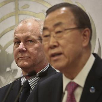 Ake Sellstrom and Ban Ki-moon confirm the use of chemical weapons in Syria