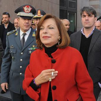 Italian Prosecutor Maria Teresa Principato leaves a press conference in Palermo after police arrested the sister of Italy's top mafia boss (AP)