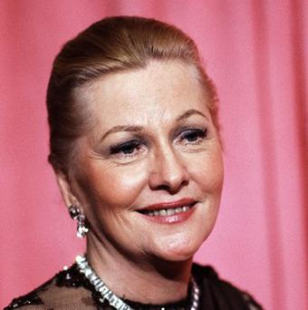 Joan Fontaine at the 50th Annual Academy Awards in Los Angeles in 1978 (AP)