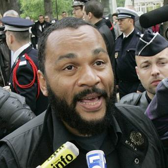 French comic Dieudonne M'Bala M'Bala has been accused of giving racist and anti-Semitic performances. (AP)