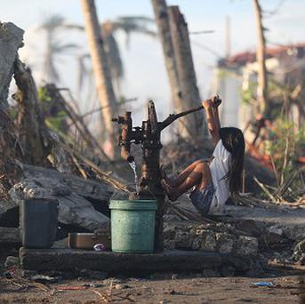 The remains of a Philippines town devastated by Typhoon Haiyan (AP)