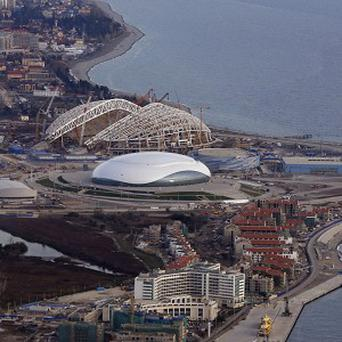 The Olympic Park under construction at Sochi (AP)
