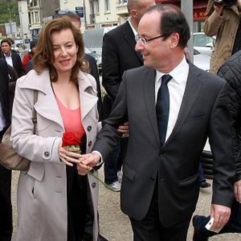 Francois Hollande and Valerie Trierweiler in happier times (AP)