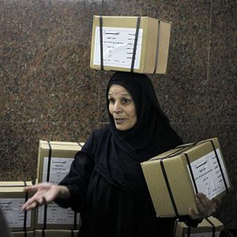 The two-day balloting is widely seen as a referendum on a likely presidential run by Egypt's top general (AP)