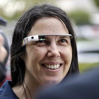 Cecilia Abadie is believed to be the first person cited for wearing Google's computer-in-an-eyeglass while driving (AP)