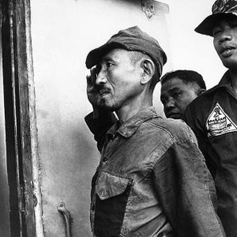 Hiroo Onoda came out of hiding on Lubang island in the Philippines in March 1974 (AP)