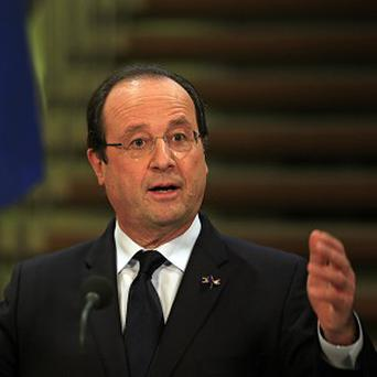 French president Francois Hollande at a press conference in the Netherlands (AP)