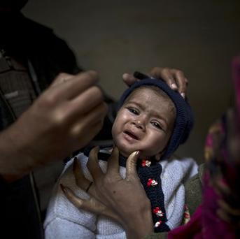 Pakistan is one of only three countries where the polio virus is still endemic (AP)