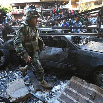 At least four people died when a car bomb ripped through a Shiite neighbourhood in southern Beirut (AP)