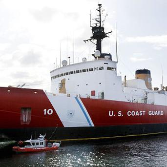 US Coast Guard icebreaker Polar Star was sent to rescue the Russian and Chinese ships, but both were able to free themselves before it arrived (AP)