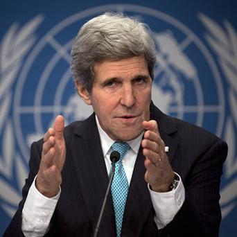 Secretary of State John Kerry had again called on Bashar Assad to step down (AP Photo/Anja Niedringhaus)
