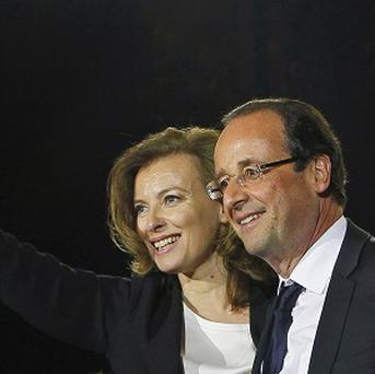 French president Francois Hollande has split from his companion Valerie Trierweiler (AP)